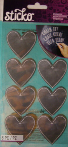 Circles Ovals Hearts Chalkboard STICKO Your Choice NEW CHALK LABELS Stickers