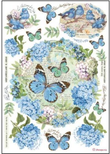 1 papel de arroz floral motivos din a4 sublimacion motivo-strohseide 28 g//m² Stamperia