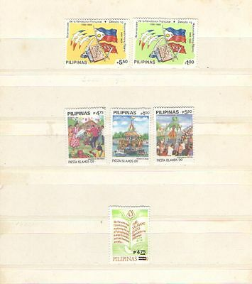 1989 Serie Completa * Linguellata Frugal Q957 Filippine Cat N°1693/98