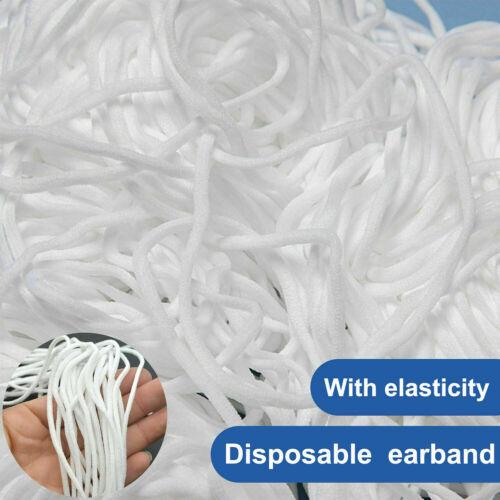 Braided Elastic Cord 3mm 1//8/' Round Elastic Band Cord DIY 100 Yards Fast Ship~