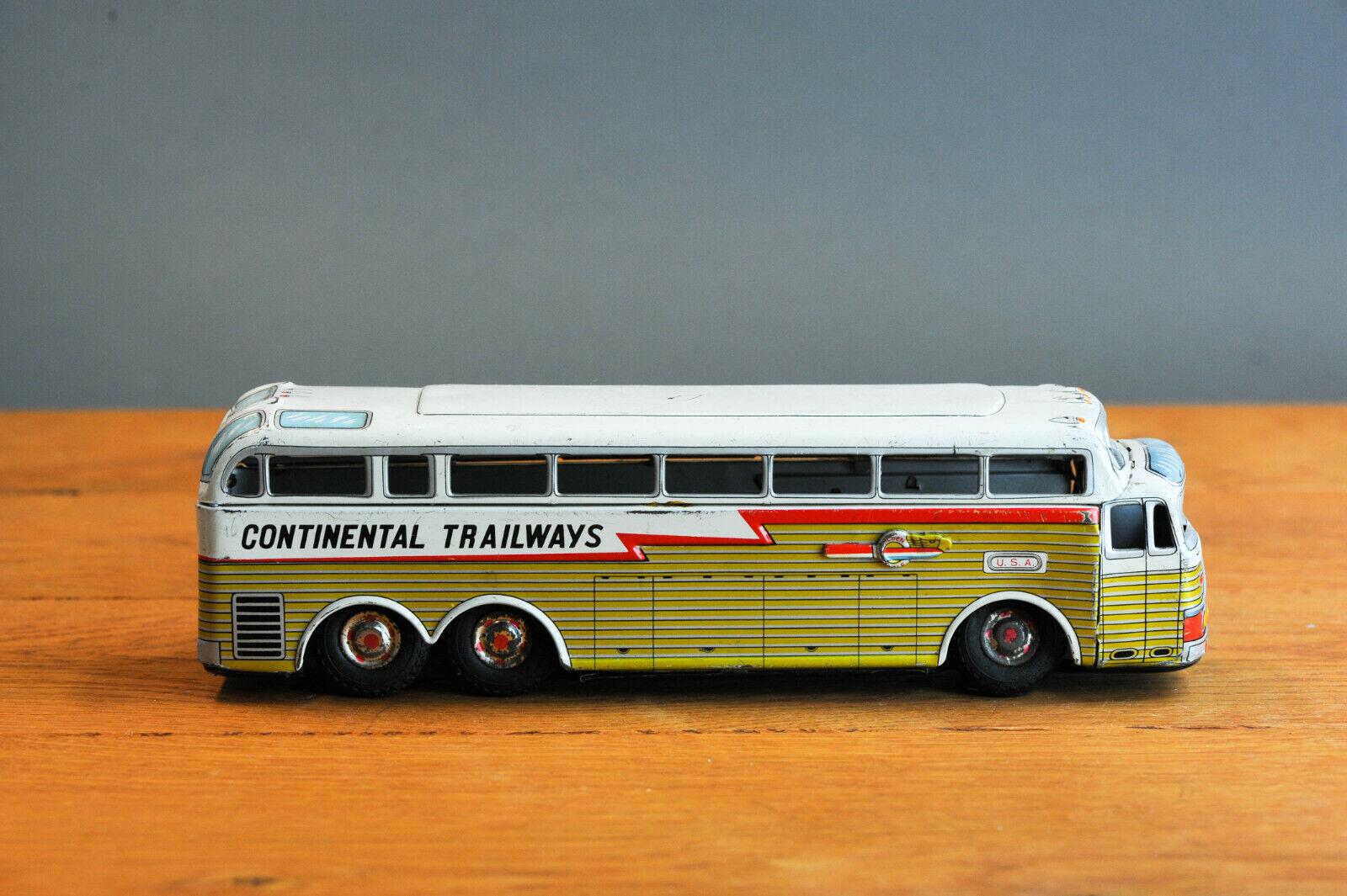 Antique Tin Tin Tin Toy Japanese golden Eagle Continental Trailwas Touring Car Japan 2a9895