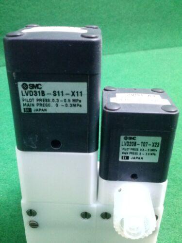 SMC LVD31B-S11-X11 USED LVD20B-T07 VALVE LLD3B-02-T11-X37
