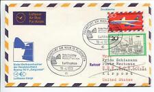FFC 1972 Lufthansa PRIMO VOLO Boeing 747 F Cargonaut - Francoforte New York USA