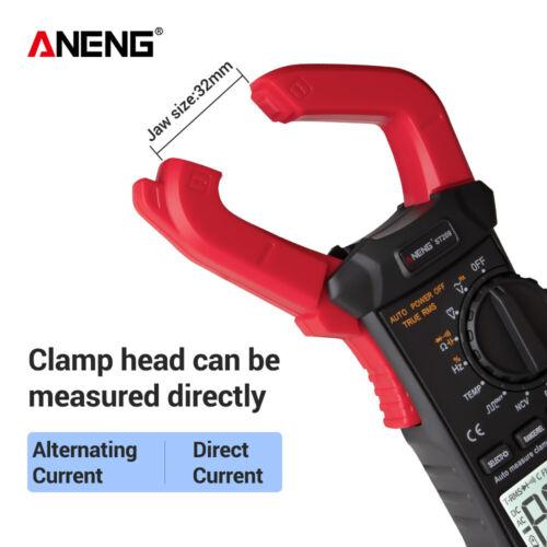 Aneng Digital Clamp Multimeter St209 6000 Counts Meter Ammeter Test AC DC RT