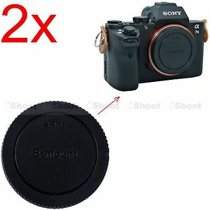 2x-Body-Cover-Cap-for-Sony-E-mount-Micro-SLR-Camera-a7RII-a7II-a7R-a7S-a7-a3000
