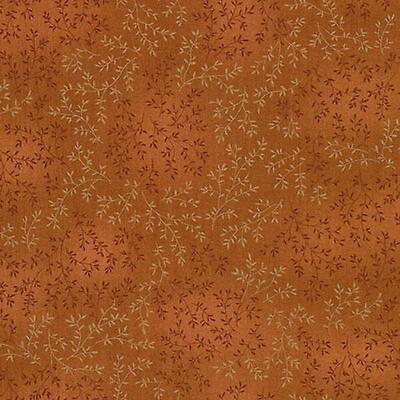 Timeless Treasures Willow fleur Tonal Leaves BROWN Nutmeg C4794-NUTMEG fabric.