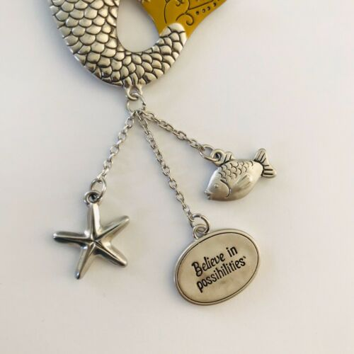 Car Mirror Pendant Charms MERMAID Believe in Possibilities Ornament NEW Ganz