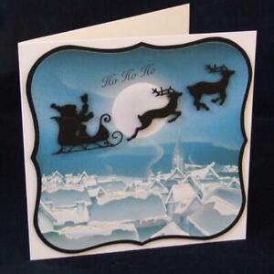 Santa-Claus-Reisen-Metall-Stencil-Cutting-Dies-Scrapbooking-Stanzschablone-Karte