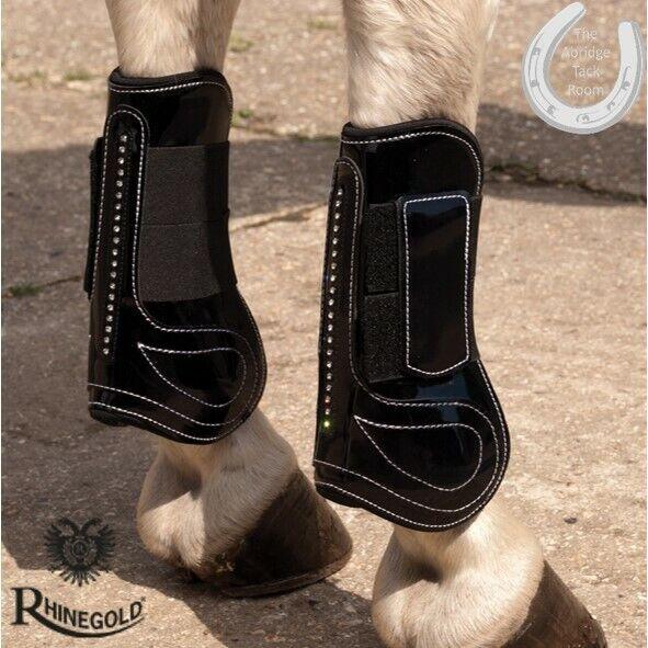 Rhineoro brevetto TENDINE & Nodello Stivali set con Cristalli – 2 Coloreeei – 4 Taglie