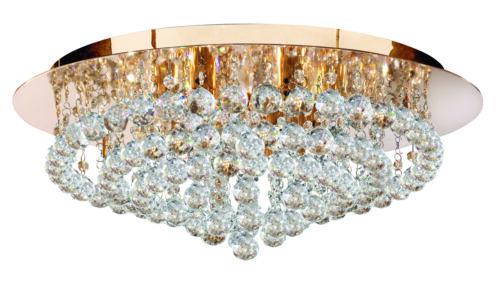 Deckenleuchte Deckenlampe Lampe Wandlampe Gold Chrom Kristall Ø55,Ø45 LED
