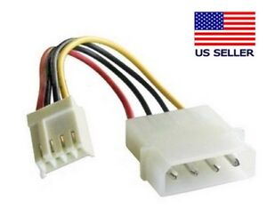 6 inch 5.25 inch Male to 3.5 inch Female CircuitOffice 4 Pin Molex to Floppy Power Cable