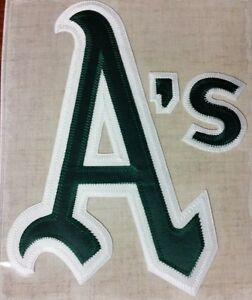 """MLB COOPERSTOWN COLLECTION 8.5"""" x 6.5"""" 1973 OAKLAND ATHLETICS PATCH - NIP!"""