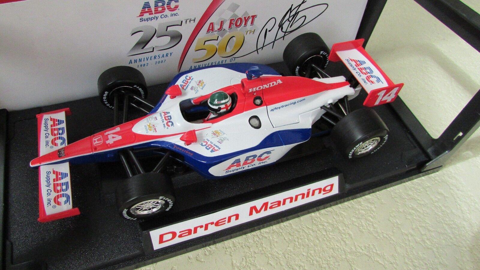 A J FOYT Indy 500 RACE CAR Signé par un J conduit D Manning vertlight 1 18 Honda