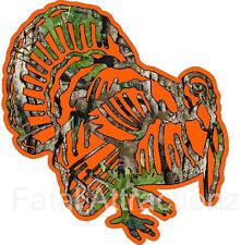 Camo Orange Turkey Vinyl Decal Sticker Hunting Bird Gobbler Bow Hen
