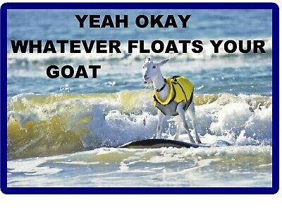 "Funny Goat refrigerator magnet  3 x 3 /"""