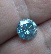2.64ct Light Blue Round Diamond Shape Moissanite Stone US Seller!