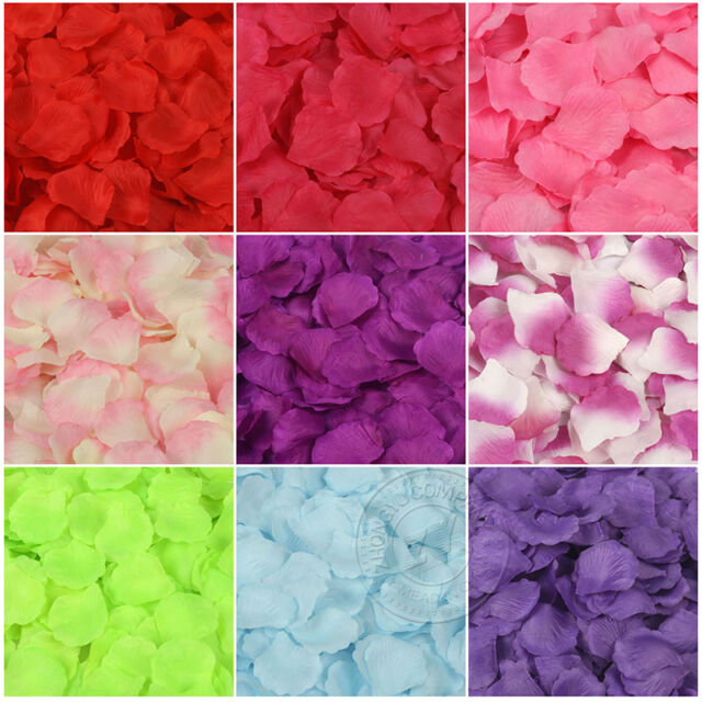 90-100pcs Simulation Rose Petals Wedding Party Table Confetti Decorations