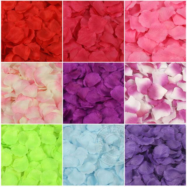 100pcs Decorative Simulation Rose Petals Flower For Wedding Party Decoration