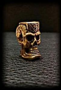 Bronze Tri Headed Skull Beads Paracord Jewelry Bracelets /& Lanyards US Seller