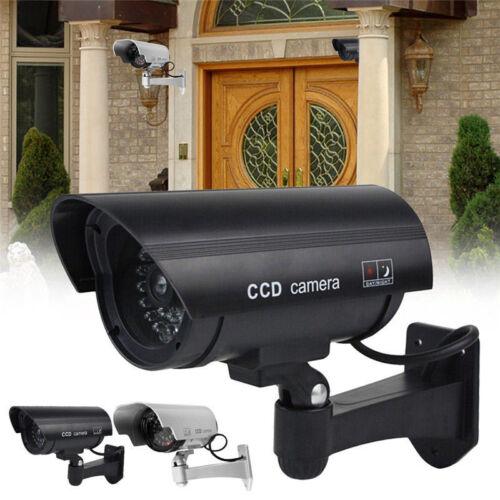 2Pack IR Bullet Fake Dummy Surveillance Security Camera CCTV Record Light