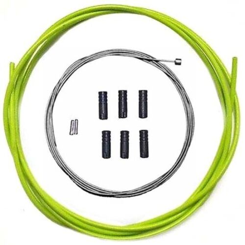 Jagwire Stainless Steel inner Gear Cable Lined Green Outer Ferrules MTB Bike 2M