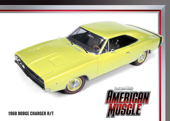 1968 Dodge Charger R T Light Gelb 1 18 Car World 972