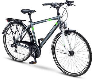 Details Zu Pegasus Piazza 28 Zoll Herren City Trekking Fahrrad Grau Matt 21 Gänge 2019