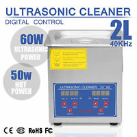 Ultrasonic Cleaner 2liter Industry Heated Heater With Timer Jewelry Cleaning Wr