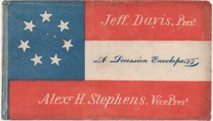 Unused Multi-Colored Confederate Seven Star Succession Cover