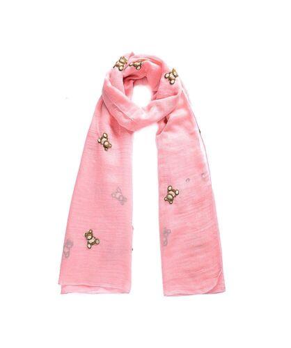 Brand New Teddy Bear Pink Scarf 93328