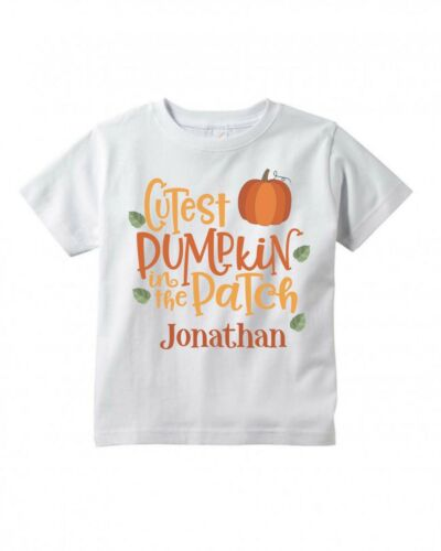 Cutest Pumpkin ~ Fall ~ Thanksgiving ~ Personalized ~ Infant//Toddler Shirt