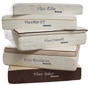 The bed boss visco heir et king size mattress memory foam for Bed boss visco heir et