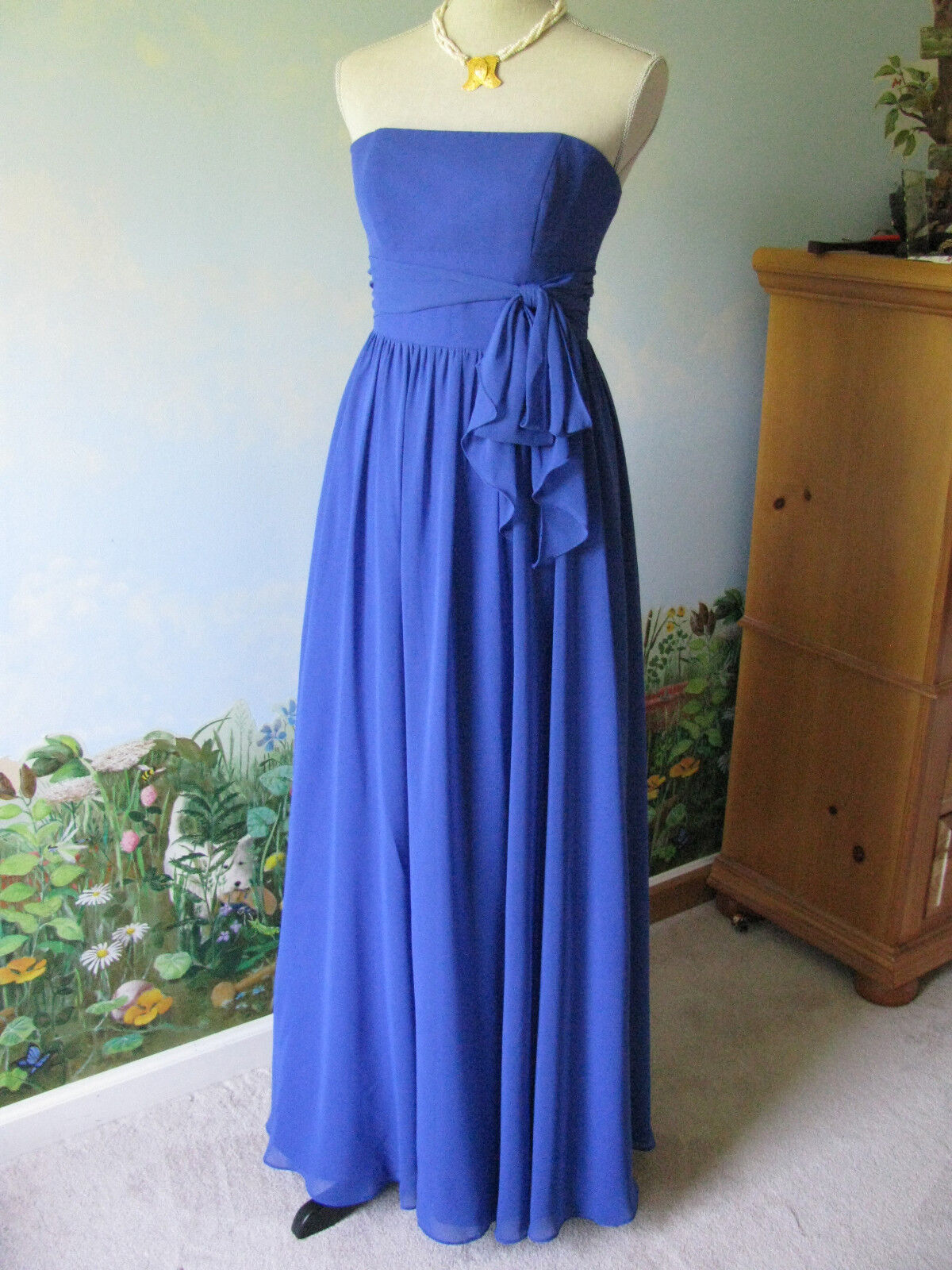 ALFrot ANGELO EVENING   FORMAL Blau DRESS SZ 4
