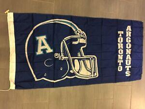 Vintage-1994-CFL-Toronto-Argonauts-Argos-Large-Flag-3-039-x-6-039