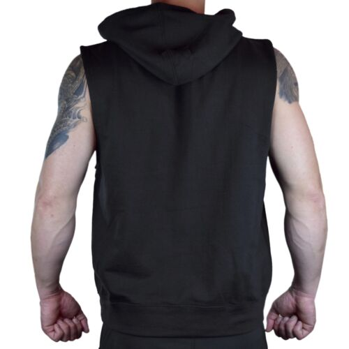 Men/'s Enjoy Submission Black Sleeveless Hoodie Workout Gym Fitness MMA Tapout