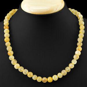 100% De Qualité Rare 273.50 Cts Naturel Non Traité Rich Golden Rutile Quartz Perles Rondes, Collier-afficher Le Titre D'origine