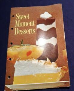 Details about Vintage 1960's SWEET MOMENT DESSERTS Cookbook Recipe Booklet  by GENERAL FOODS