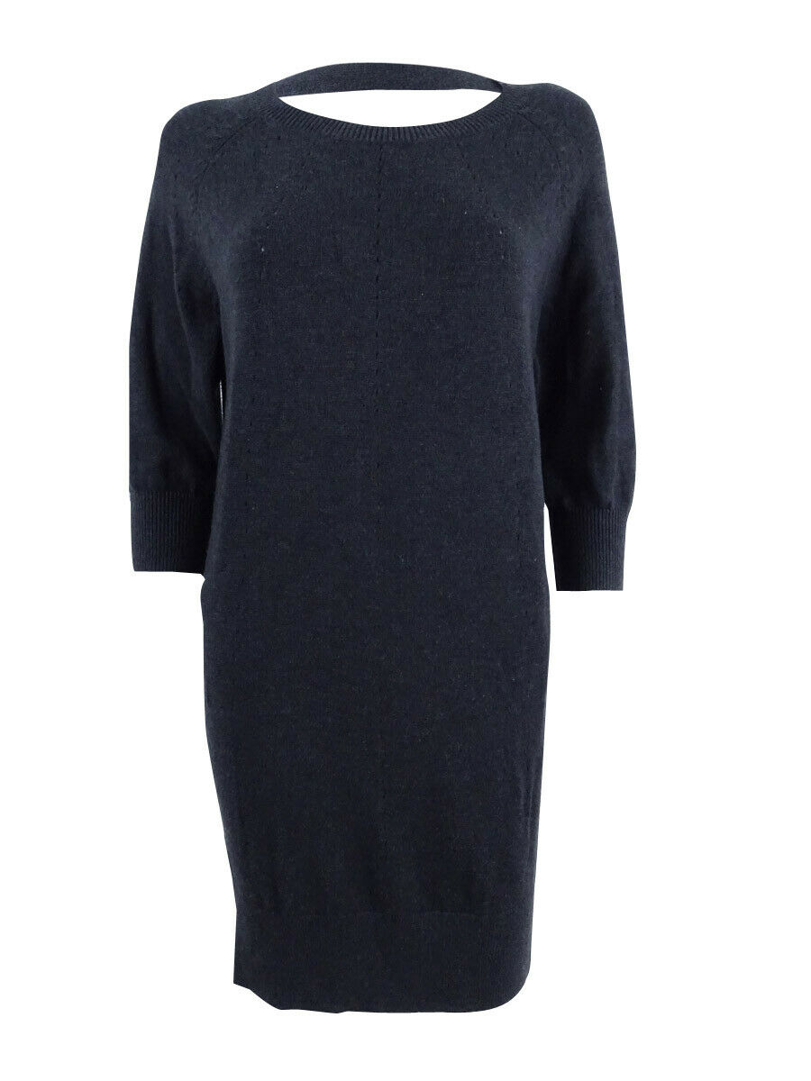 Lauren Ralph Lauren Women's Long Sleeve Sweater Dress XS, Charcoal