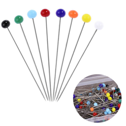 100x Sewing Pins 34mm Glass Ball Head Pins Clothes Pin for Dressmaking Jewelry