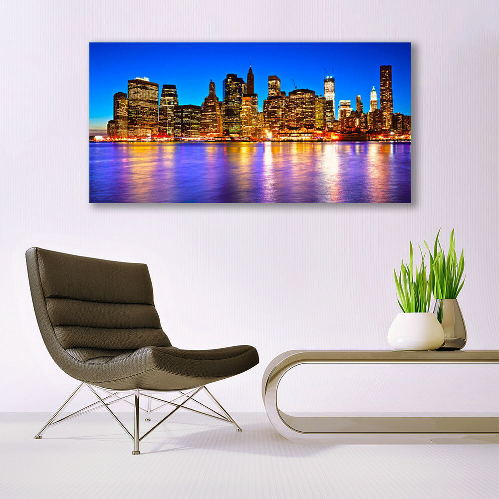 Glass print Wall art 140x70 Image Picture City Houses Houses Houses bca824