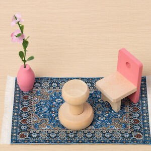 New Blue Starry Night Carpet 1//12 Dollhouse Miniature Toy House Decor Super