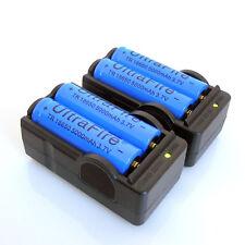 4pcs 3.7v 18650 Rechargeable Li-ion Battery 5000MAH Batteries +2pc Smart Charger