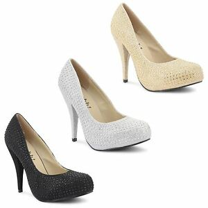 New-Womens-Ladies-Stiletto-High-Heel-Casual-Party-Platform-Court-Shoes-Size-3-8