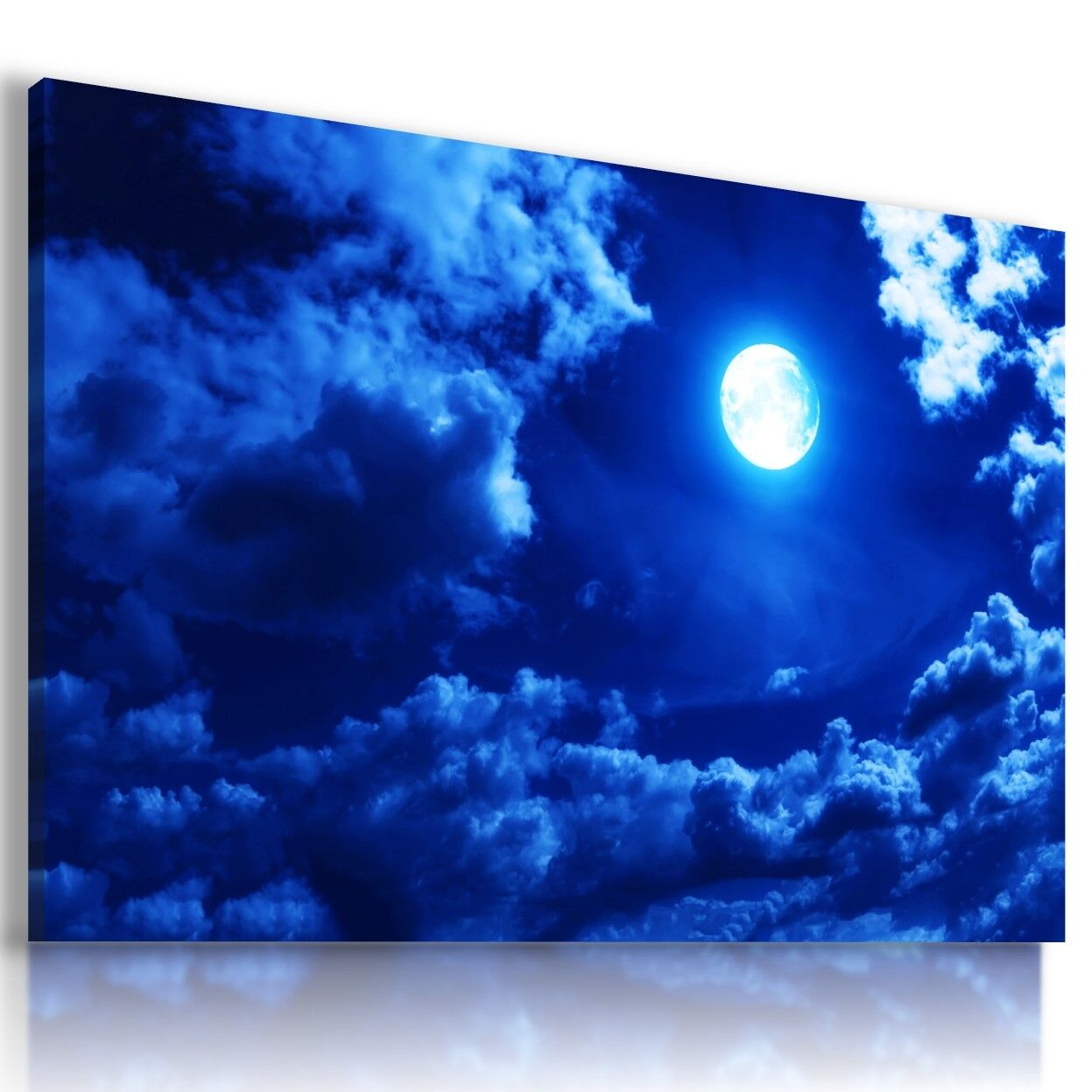 Blau MOON SKY STARS NIGHT Perfect View Canvas Wall Art Picture L576 MATAGA .