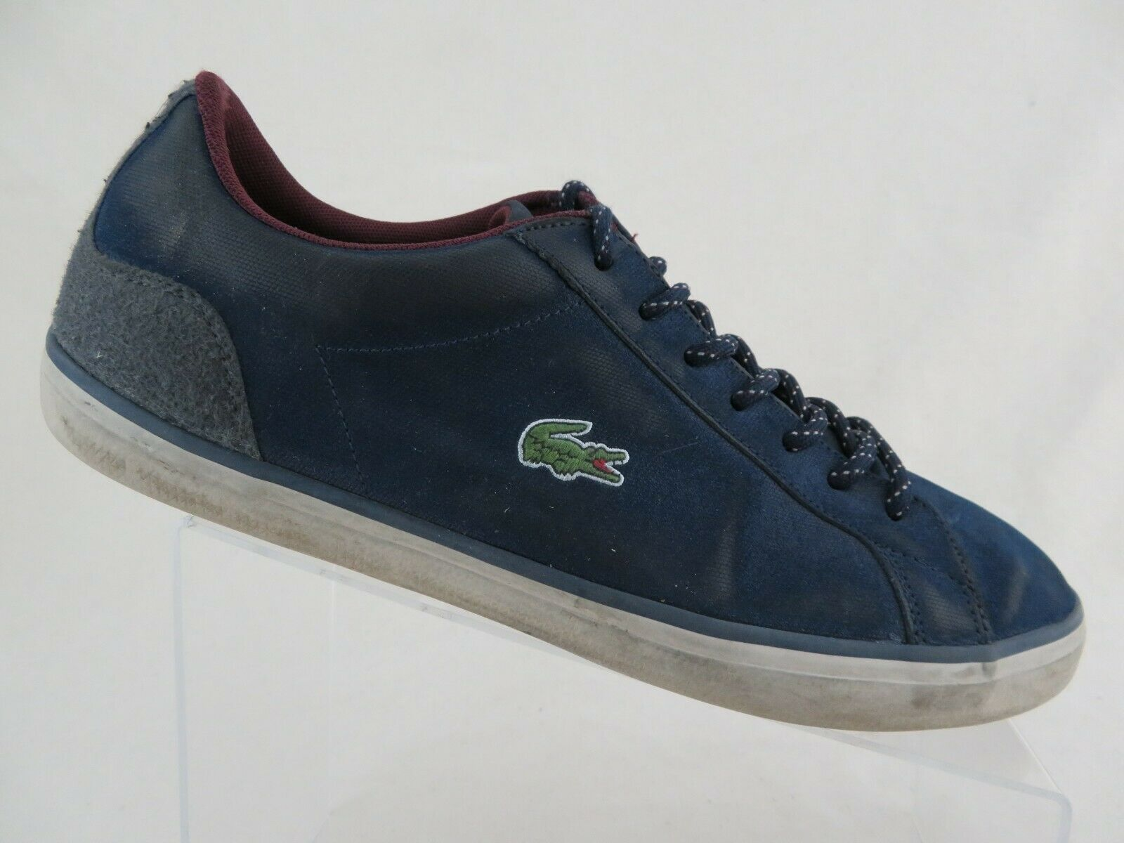 LACOSTE Lerond bluee Sz 10 Men Casual Lace-Up Oxfords