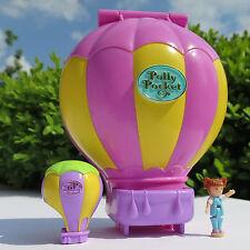 Mini Polly Pocket Up Up and Away Happy Holidays Original Figur Ballon 1997