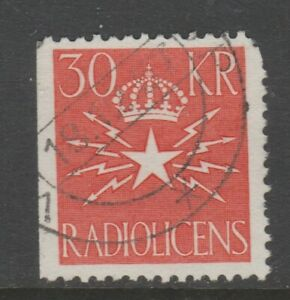 Sweden-Radio-Tax-seal-label-Cinderella-stamp-7-9-23-no-gum-as-seen