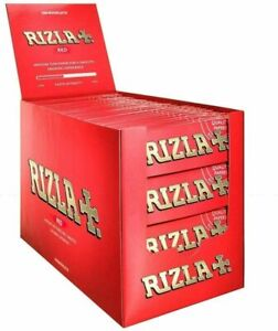 Rizla-Red-Rolling-Paper-Cigarette-Papers-20-50-100-Booklets-Box-Regular-Size