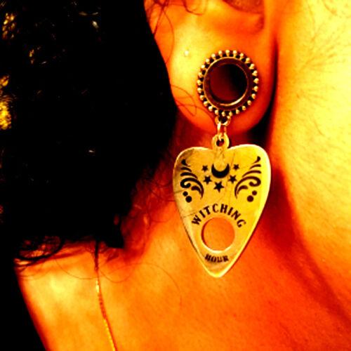 Ouija Board Dangle Ear Tunnel Plug Gauges Expander Earlet Piercing Earring