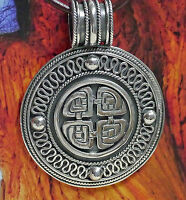 sehr edel Vier Elemente Kraftamulett Keltik Anhänger 925 Silber Handgeschmiedet